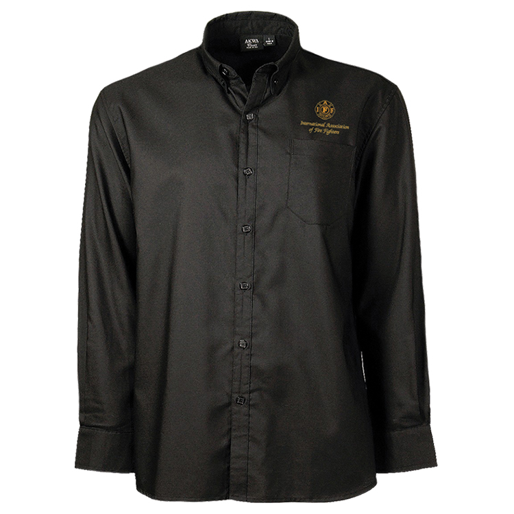 Black button down shirt iaff online store for Black oxford button down shirt